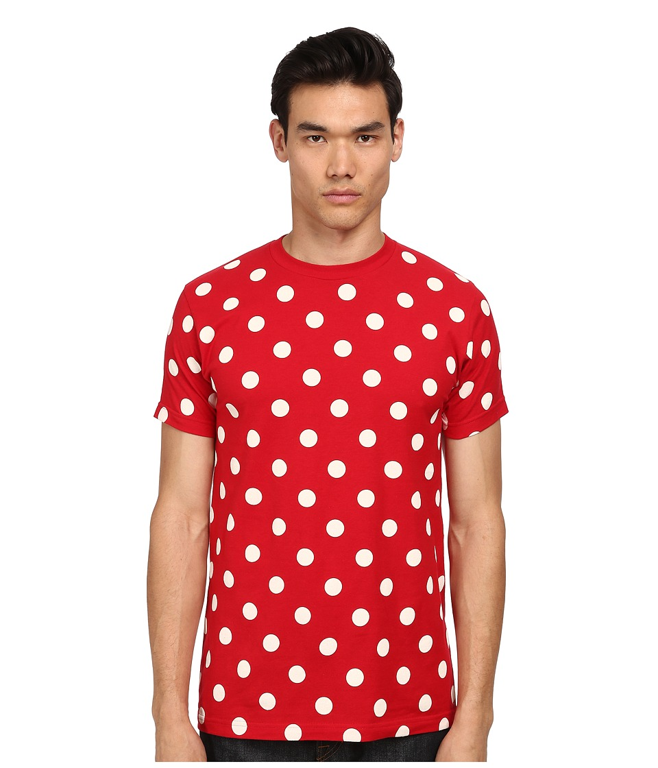 Mark McNairy New Amsterdam - Polka Dot T-Shirt (Cardinal Red/White) Men