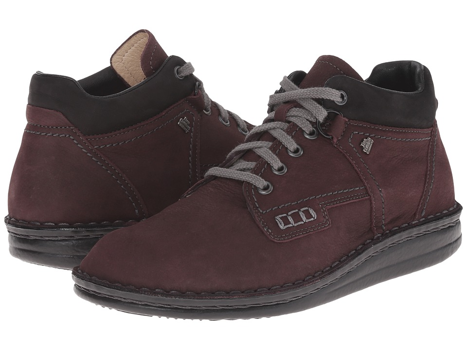 Finn Comfort - Linz (Plum Bear Nubuk/Black Buggy) Lace up casual Shoes