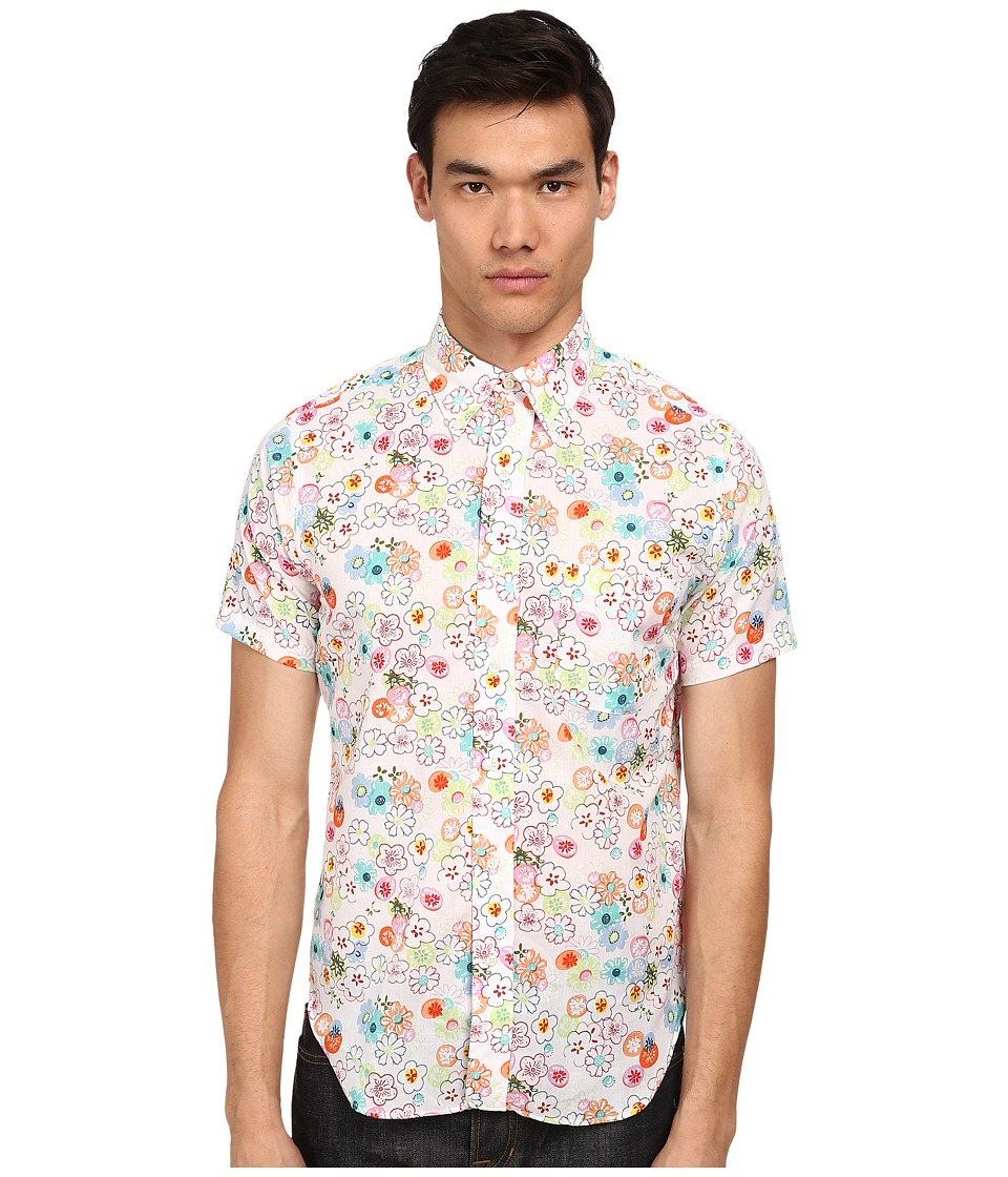 Mark McNairy New Amsterdam - Short Sleeve Floral Dot Button Down (Floral Print) Men