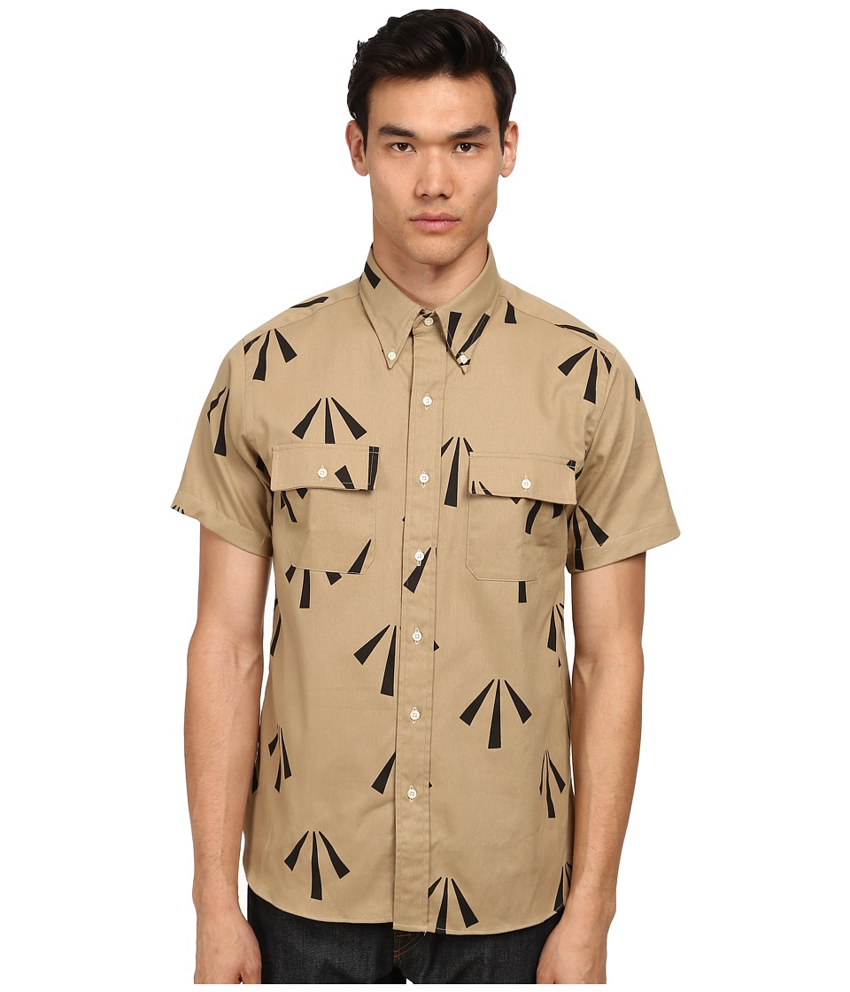 Mark McNairy New Amsterdam - Short Sleeve Officer Shirt (Arrow Print) Men's Short Sleeve Button Up