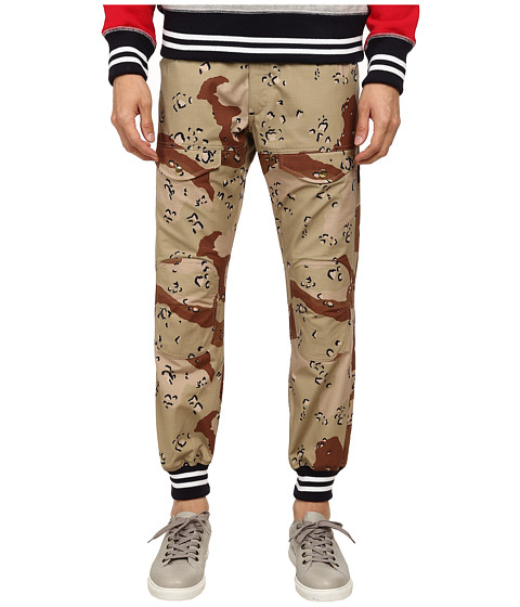 Mark McNairy New Amsterdam - Higgins Striped Cuff Pants (Camo/Navy/White) Men
