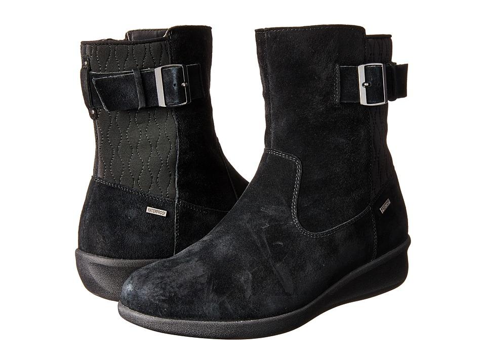 Aravon - Linda-AR (Black Suede) Women's Boots