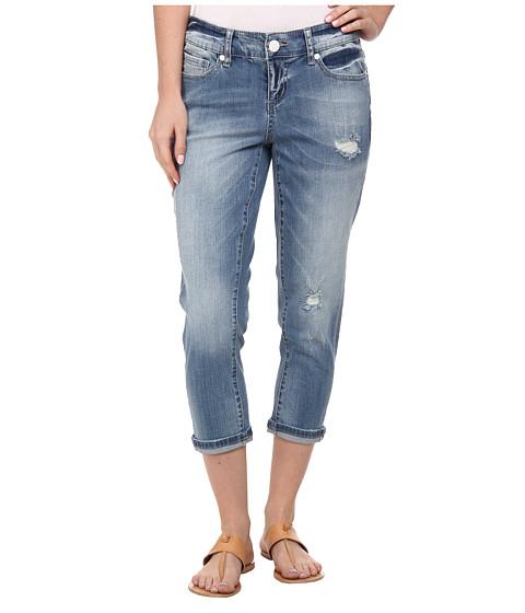Seven7 Jeans - Destructed Crop Jeans in Vertigo Blue (Vertigo Blue) Women