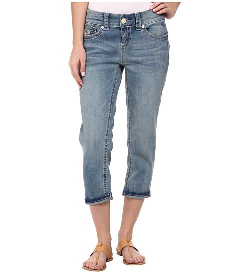 Seven7 Jeans - Cuff Crop Jeans in Gama Blue (Gama Blue) Women's Jeans