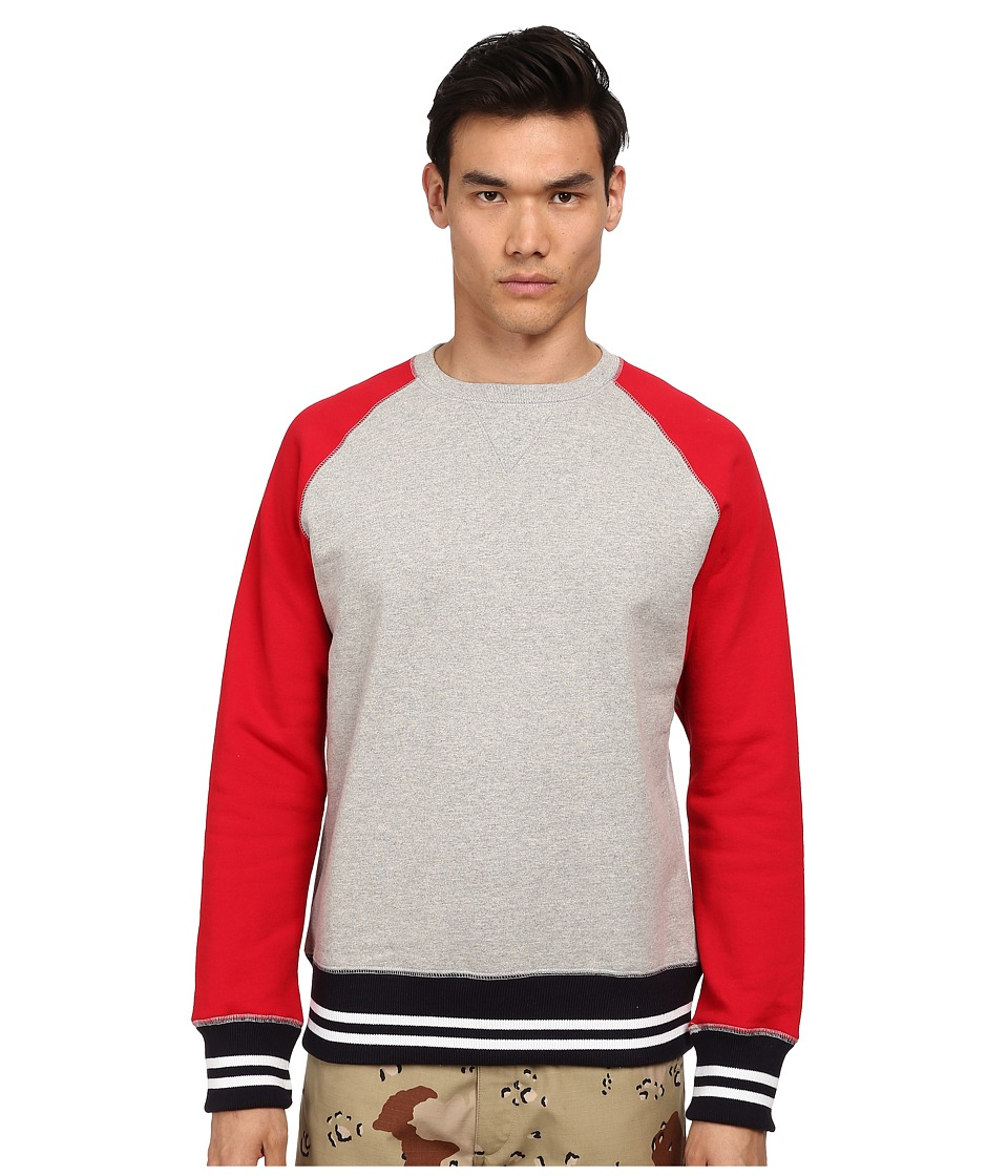 Mark McNairy New Amsterdam - Freedom Sleeve Sweatshirt (Heather/Red) Men