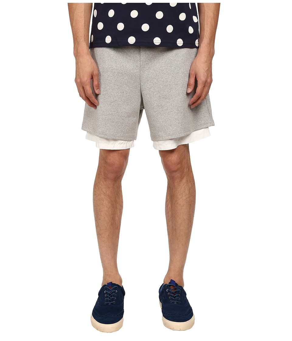 Mark McNairy New Amsterdam - Party Hard Shorts (Charcoal/White) Men's Shorts