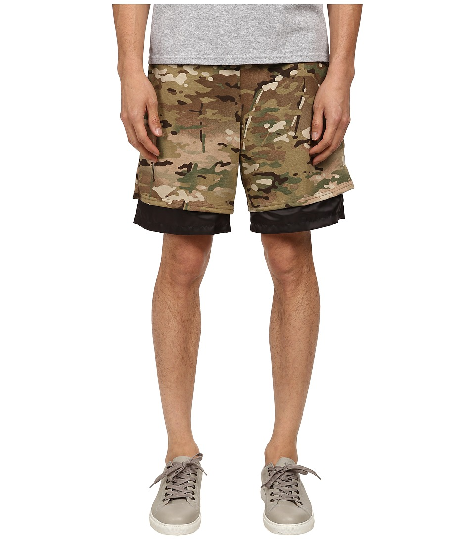 Mark McNairy New Amsterdam - Party Hard Shorts (Multi Camo/Black) Men's Shorts
