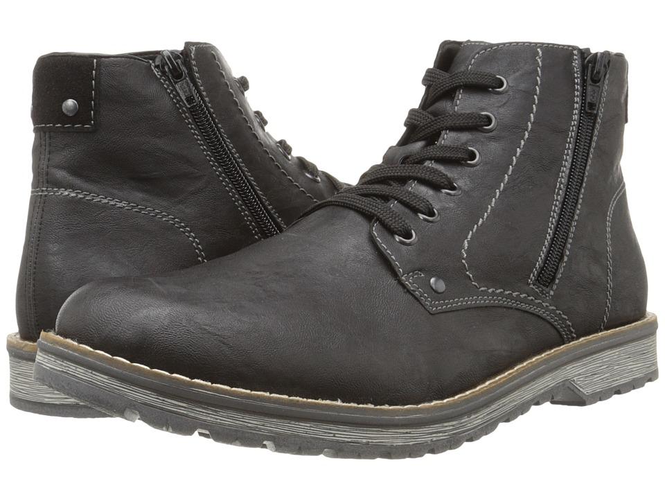 Rieker - 39232 (Black Palma/Black Virage) Men's Lace-up Boots