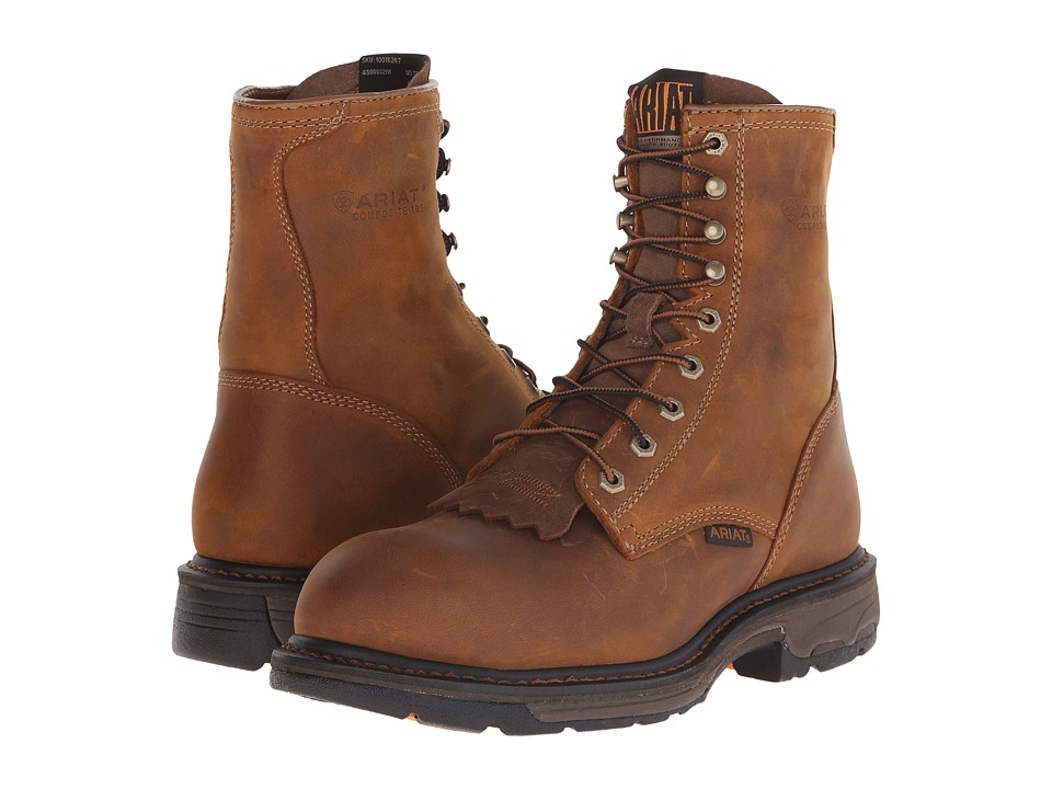 Ariat - Workhog 8 Steel Toe (Aged Bark) Men's Work Lace-up Boots