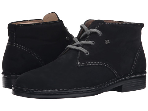 Finn Comfort - Plymouth (Black Nubuk) Women's Lace-up Boots