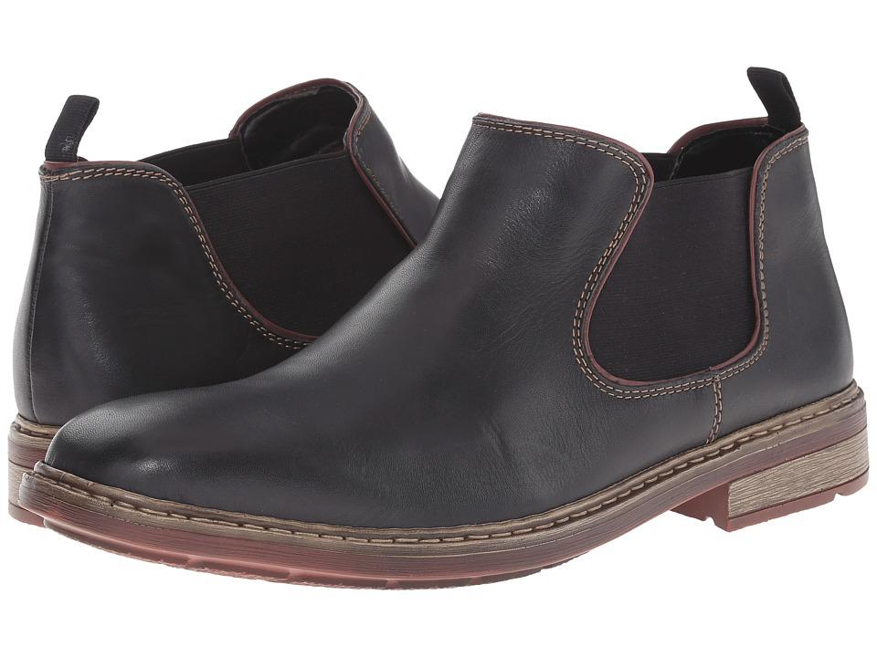 Rieker - B1282 (Nero Clarino/Bordeaux Kid) Men's Pull-on Boots