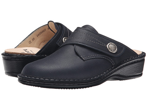 Finn Comfort - Santa Fe-S (Marine Longbeach) Women's Clog Shoes