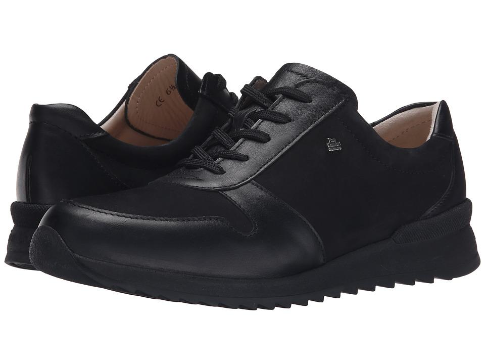 Finn Comfort - Sidonia (Black Nappa Seda/Nubuk) Women's Lace up casual Shoes
