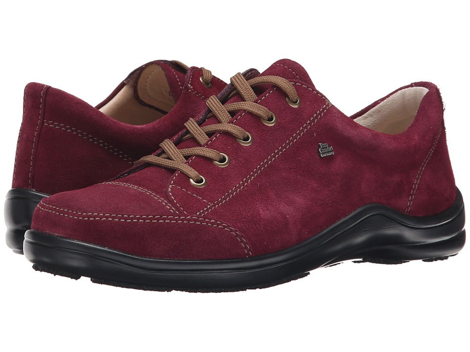 Finn Comfort - Soho (Vino Velour) Women's Lace up casual Shoes
