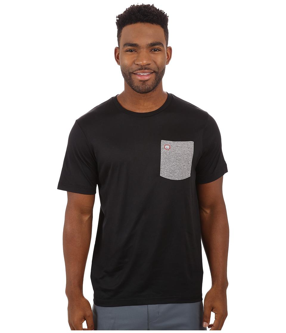 TravisMathew - RED Ray Crew T-Shirt (Black) Men