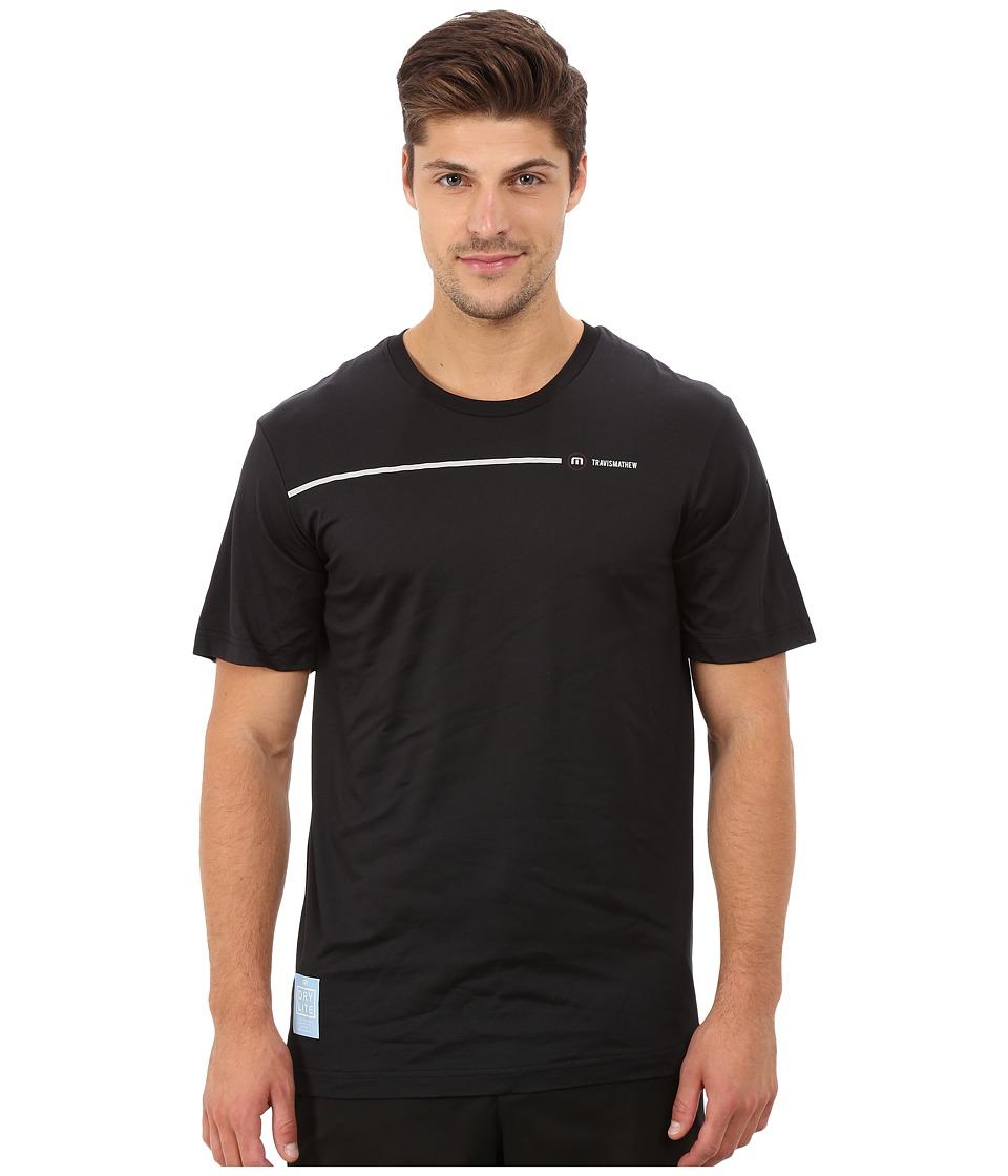 TravisMathew - RED Pool and Pond Crew T-Shirt (Black) Men