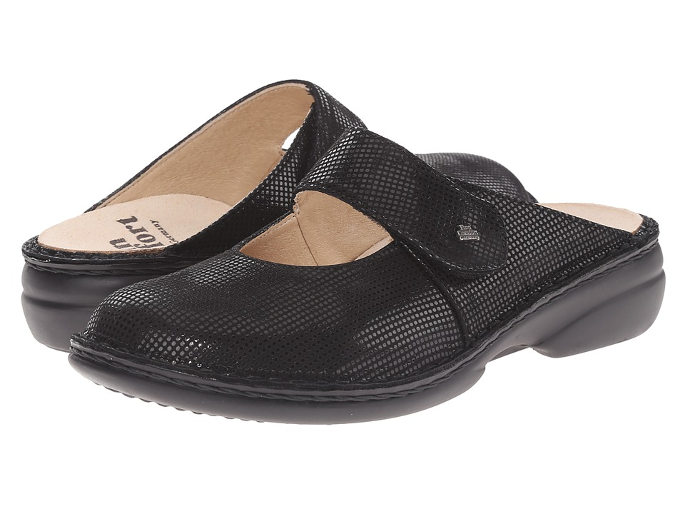 Finn Comfort - Stanford (Black Points) Women's Clog/Mule Shoes