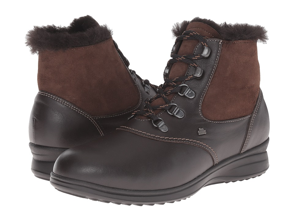 Finn Comfort - Umbria (Dark Brown Nappa Seda/Double Face) Women's Lace up casual Shoes