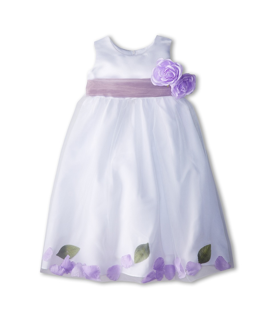Us Angels - Sleeveless Petal Dress (Toddler) (Iris) Girl's Special Occasion