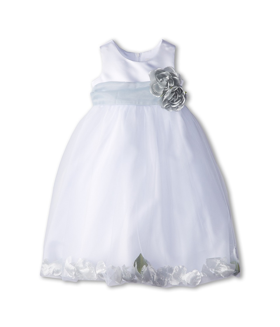 Us Angels - Sleeveless Petal Dress (Toddler) (Pewter) Girl's Special Occasion