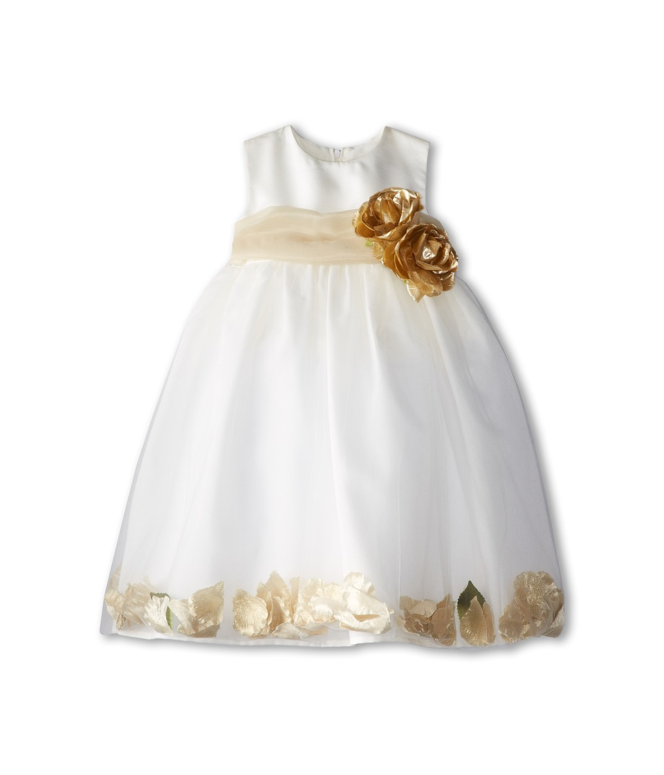 Us Angels - Sleeveless Petal Dress (Toddler) (Champagne) Girl's Special Occasion