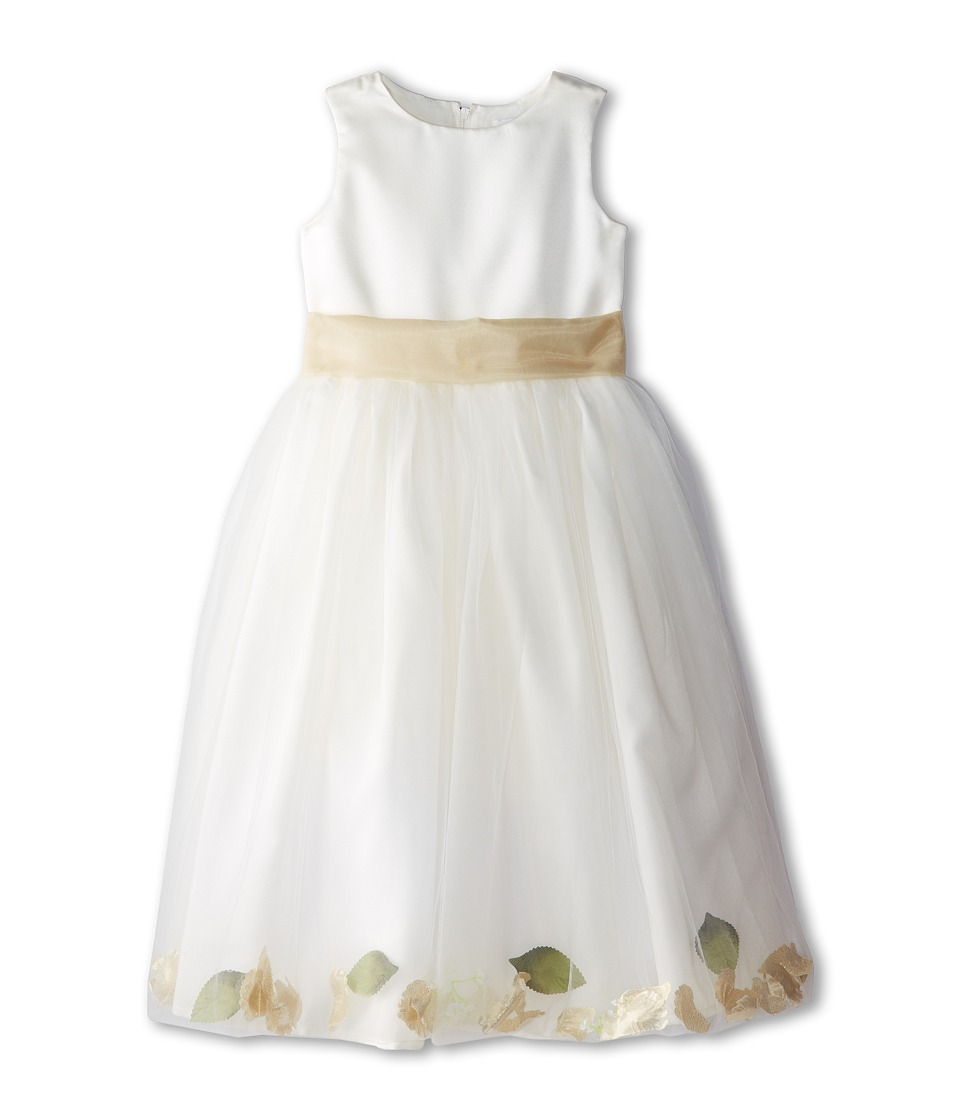 Us Angels - Sleeveless Petal Dress (Little Kids) (Champagne) Girl's Special Occasion