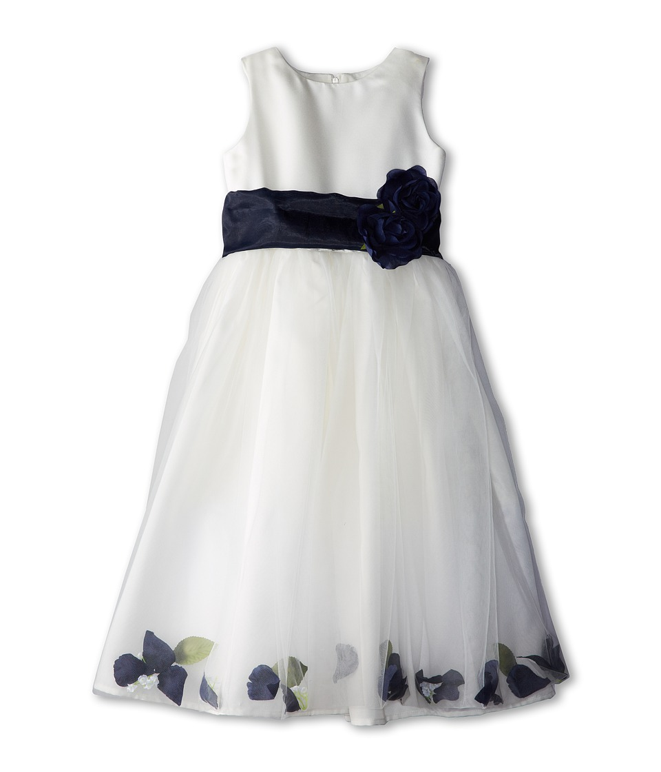 Us Angels - Sleeveless Petal Dress (Little Kids) (Navy) Girl's Special Occasion
