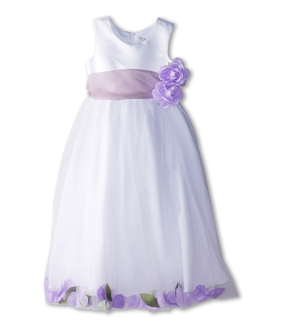 Us Angels - Sleeveless Petal Dress (Little Kids) (Iris) Girl's Special Occasion