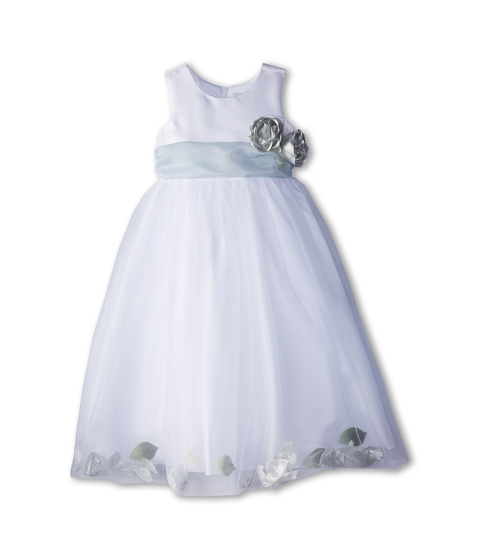 Us Angels - Sleeveless Petal Dress (Little Kids) (Pewter) Girl's Special Occasion