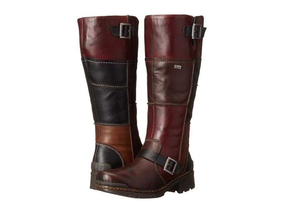 Rieker - 74382 (Teak Cristallino/Schwarz Fino/Medoc Cristallino/Teak Bogo) Women's Dress Boots