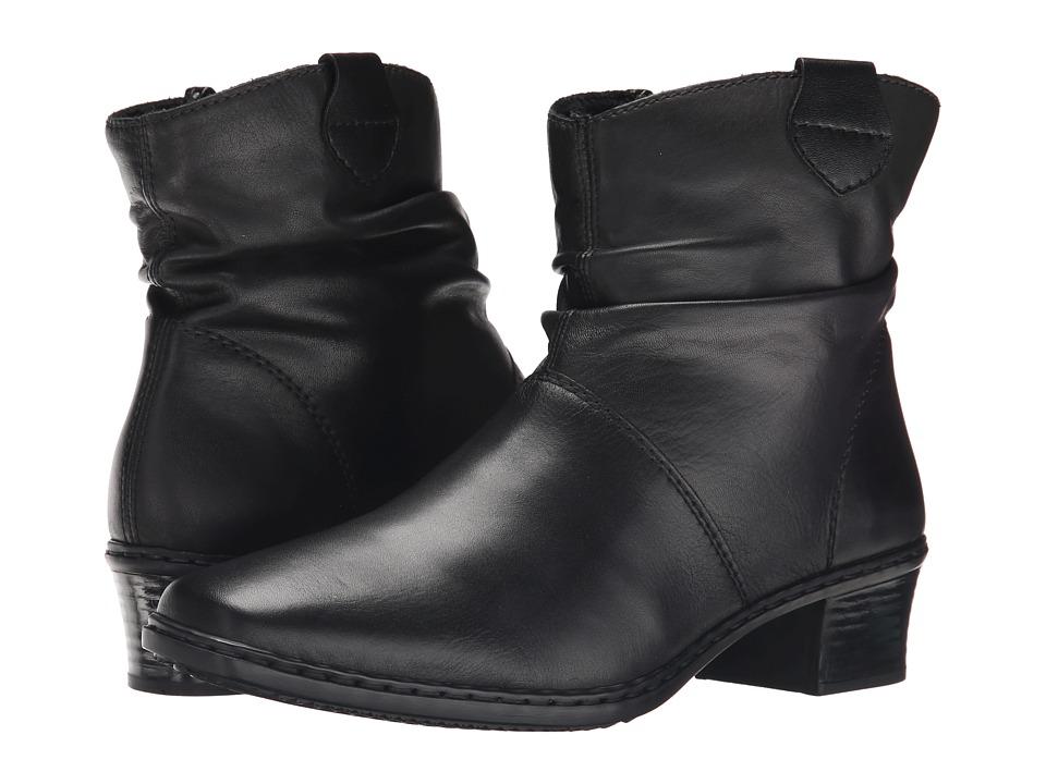 Rieker 74551 Kendra 51 (Black Cristallino/Black Fino) Women