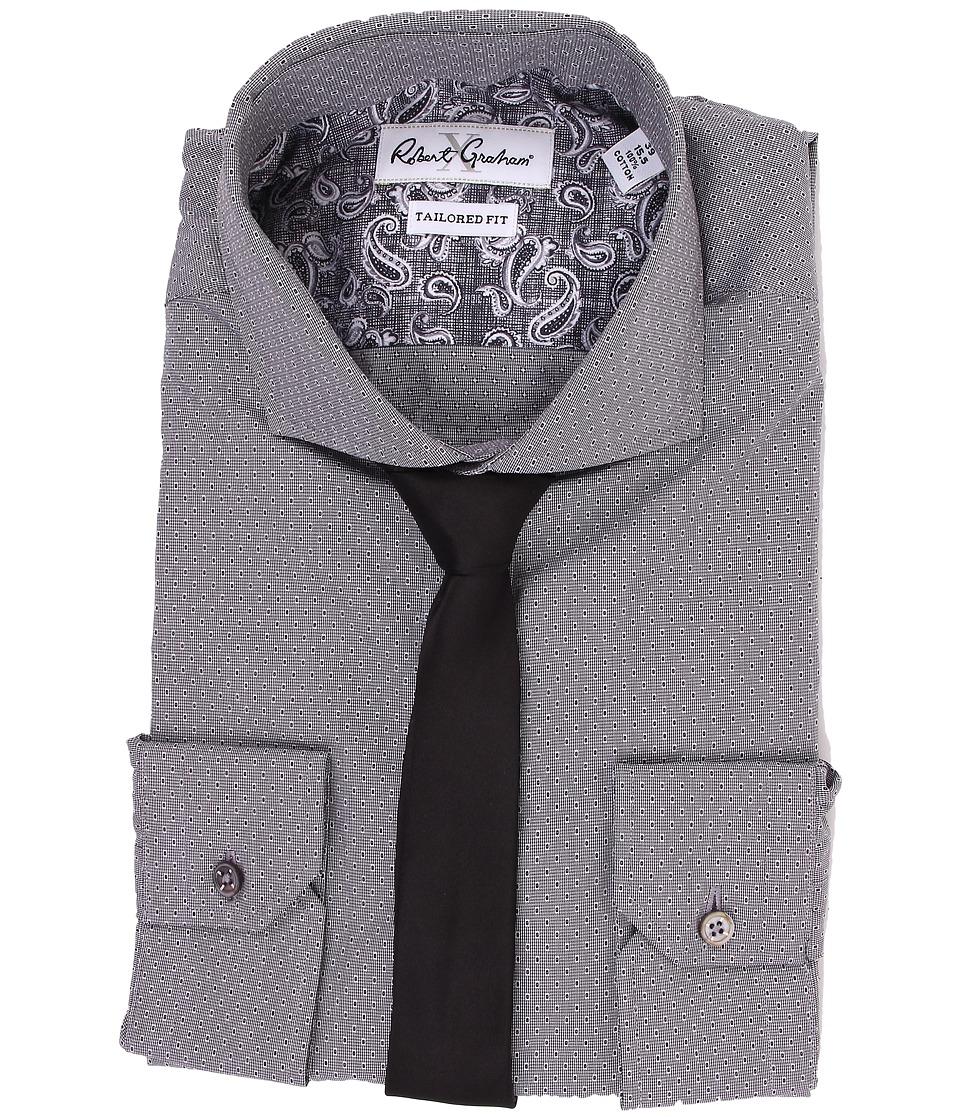 Robert Graham - Rapallo Dress Shirt (Black) Men's Clothing