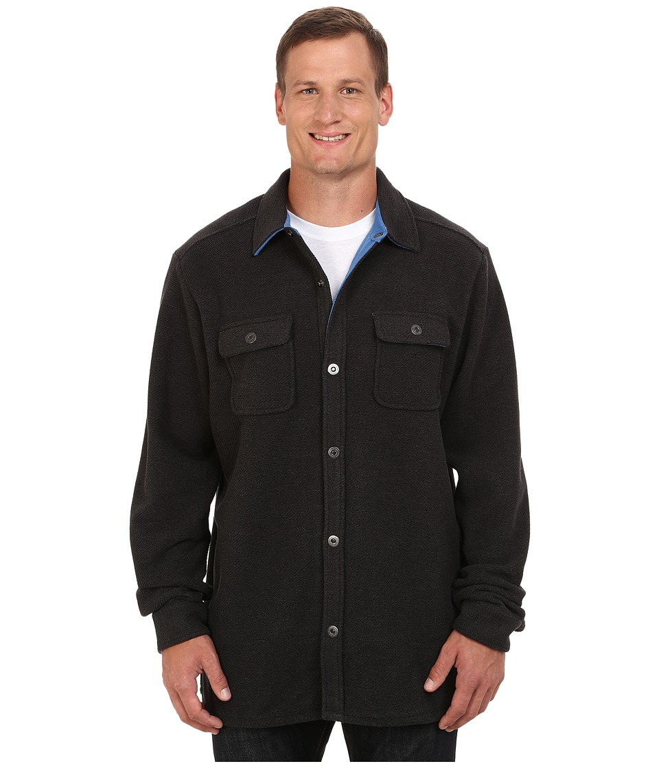 Tommy Bahama Big & Tall - Big Tall Twill Murray Chief Petty Office (Charcoal) Men's Coat