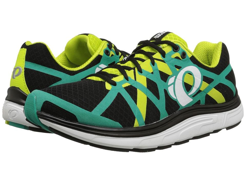 Pearl Izumi - EM Road H 3 v2 (Black/Dynasty Green) Men's Running Shoes