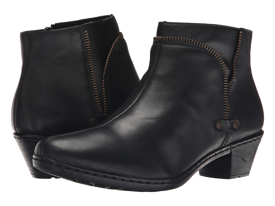 Rieker - 76970 (Black Cristallino/Black Fino) Women's Dress Boots