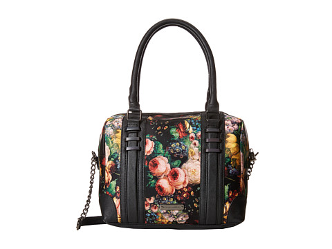 Steve Madden - Bcarnation Oversized Color Blocked Speedy Satchel (Floral) Satchel Handbags