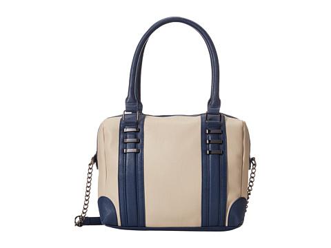 Steve Madden - Bcarnation Oversized Color Blocked Speedy Satchel (Bisque Multi) Satchel Handbags