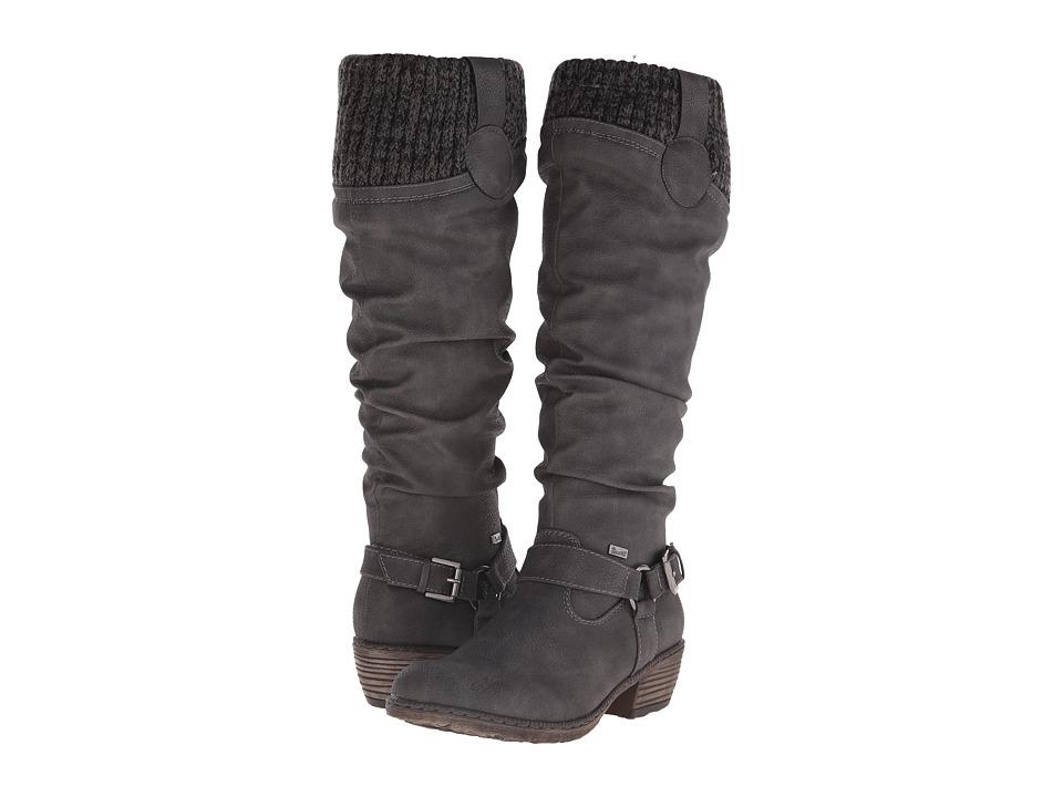 Rieker - 93756 (Cenere Nicaragua/Black/Grey Knitwear) Women's Dress Boots