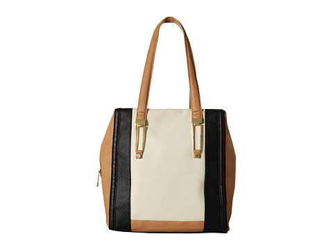 Steve Madden - Bjune Mixed Media Satchel (Cream Multi) Satchel Handbags