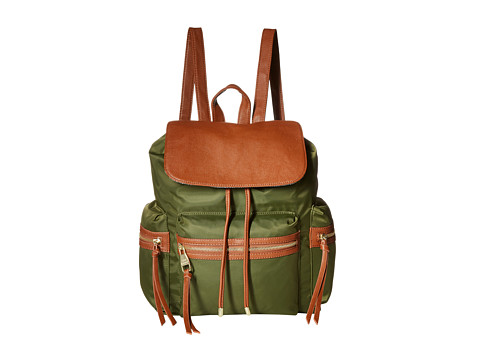 Steve Madden - Bpixie Nylon/Pebble Backpack w/ Triple Zip Pockets (Olive) Backpack Bags