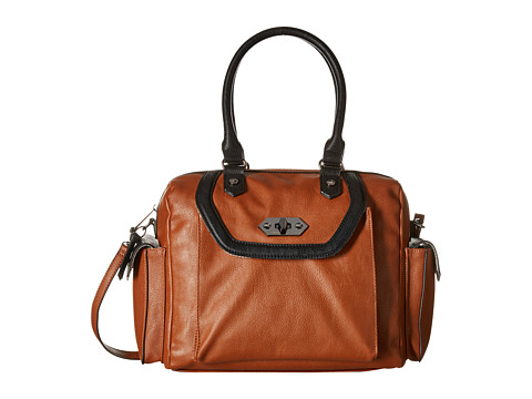 Steve Madden - Bsumi North/South Tall Satchel (Cognac) Satchel Handbags