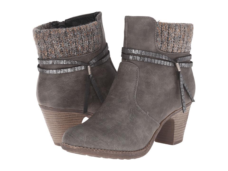 Rieker - 98792 (Stromboli Clyde/Graphite Knit/Graphite Bracelet) Women's Zip Boots