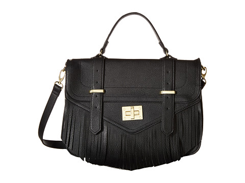 Steve Madden - Blola Fringe Crossbody (Black) Cross Body Handbags