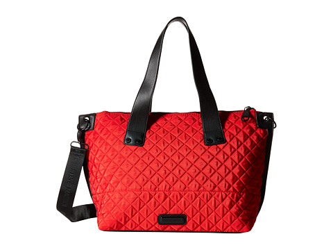 Steve Madden - Bwanderr Cire Nylon Satchel w/ Solid Quilt w/ Grommet Strap Double Handle (Red) Satchel Handbags