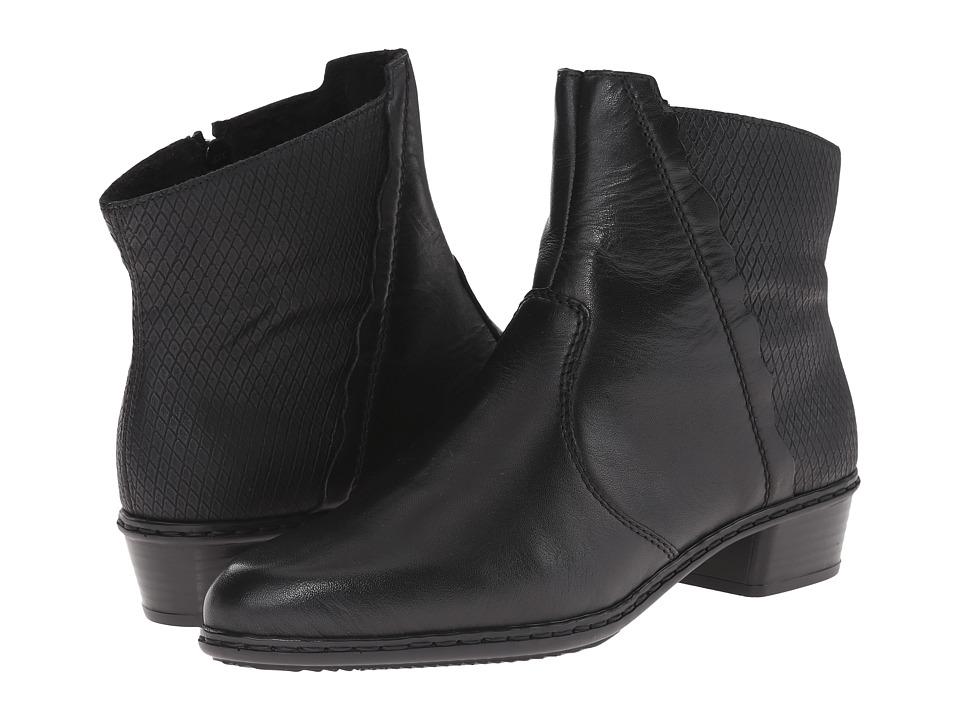 Rieker Y0769 (Black Cristallino/Black Boccia) Women