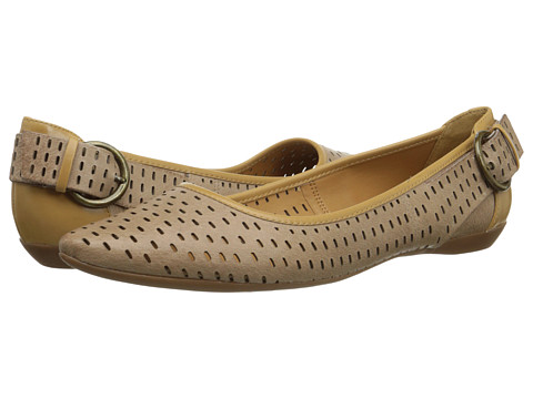 Nine West - Tansy (Taupe/Light Natural Leather) Women's Flat Shoes