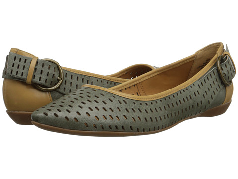 Nine West - Tansy (Green/Light Natural Leather) Women
