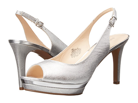 Nine West - Able (Silver Metallic) Women's Sling Back Shoes