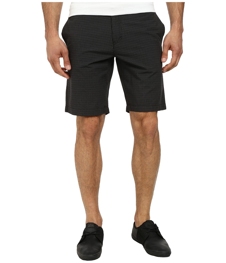 Calvin Klein - Yarn Died Check Shorts (Black) Men's Shorts