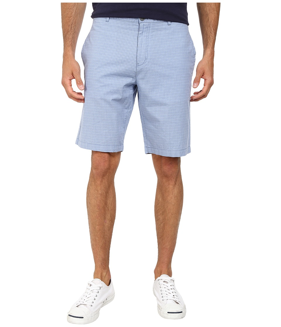 Calvin Klein - Yarn Died Check Shorts (Blue Bonnet) Men